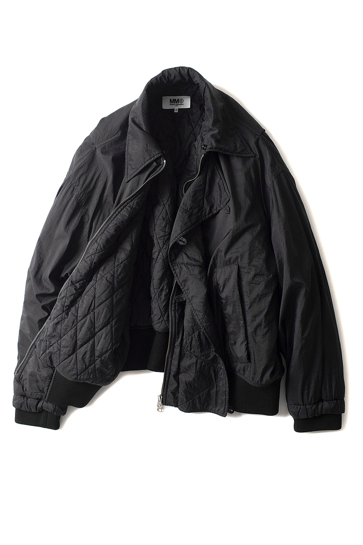 MM6 Maison Margiela : Fur Bomber Jacket (Black)