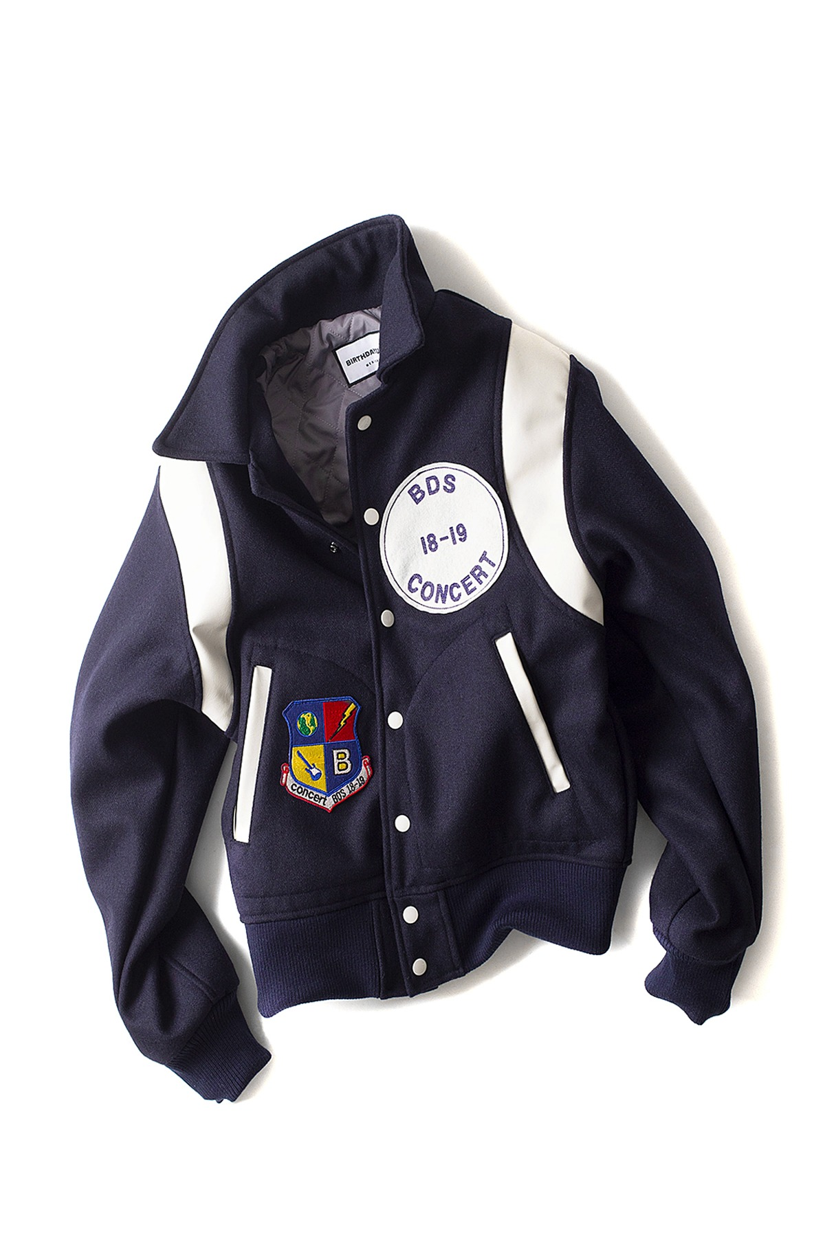 BIRTHDAYSUIT : Stadium Jacket (Navy)
