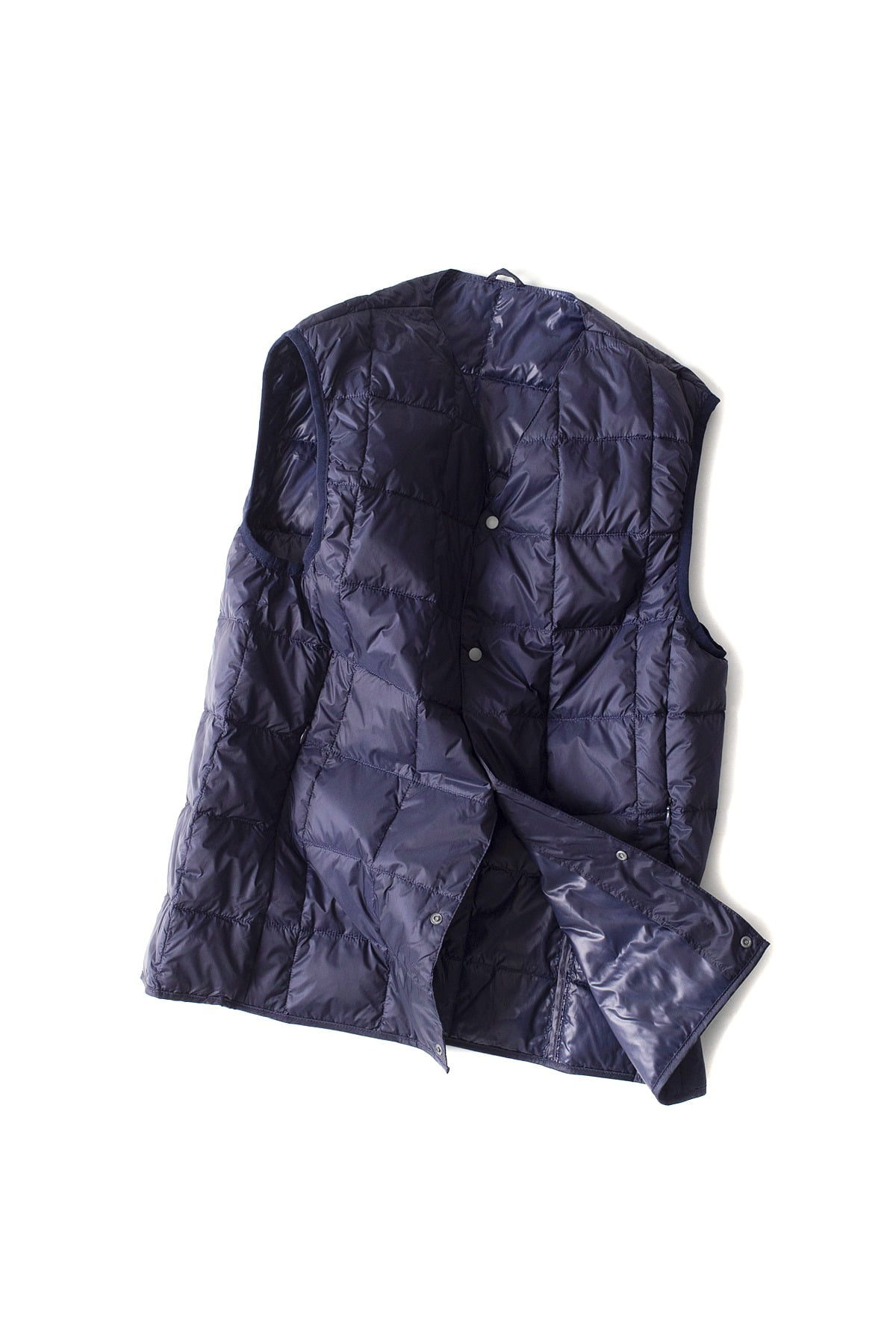 TAION :  V Neck Button Down Vest (Navy)