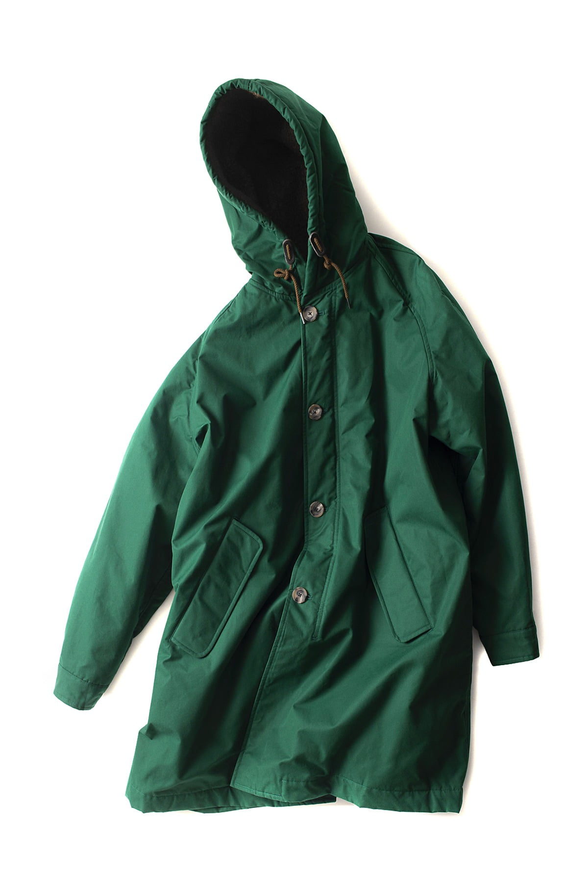 Scye : High Density Cotton Cloth Padding Big Parka (Green)
