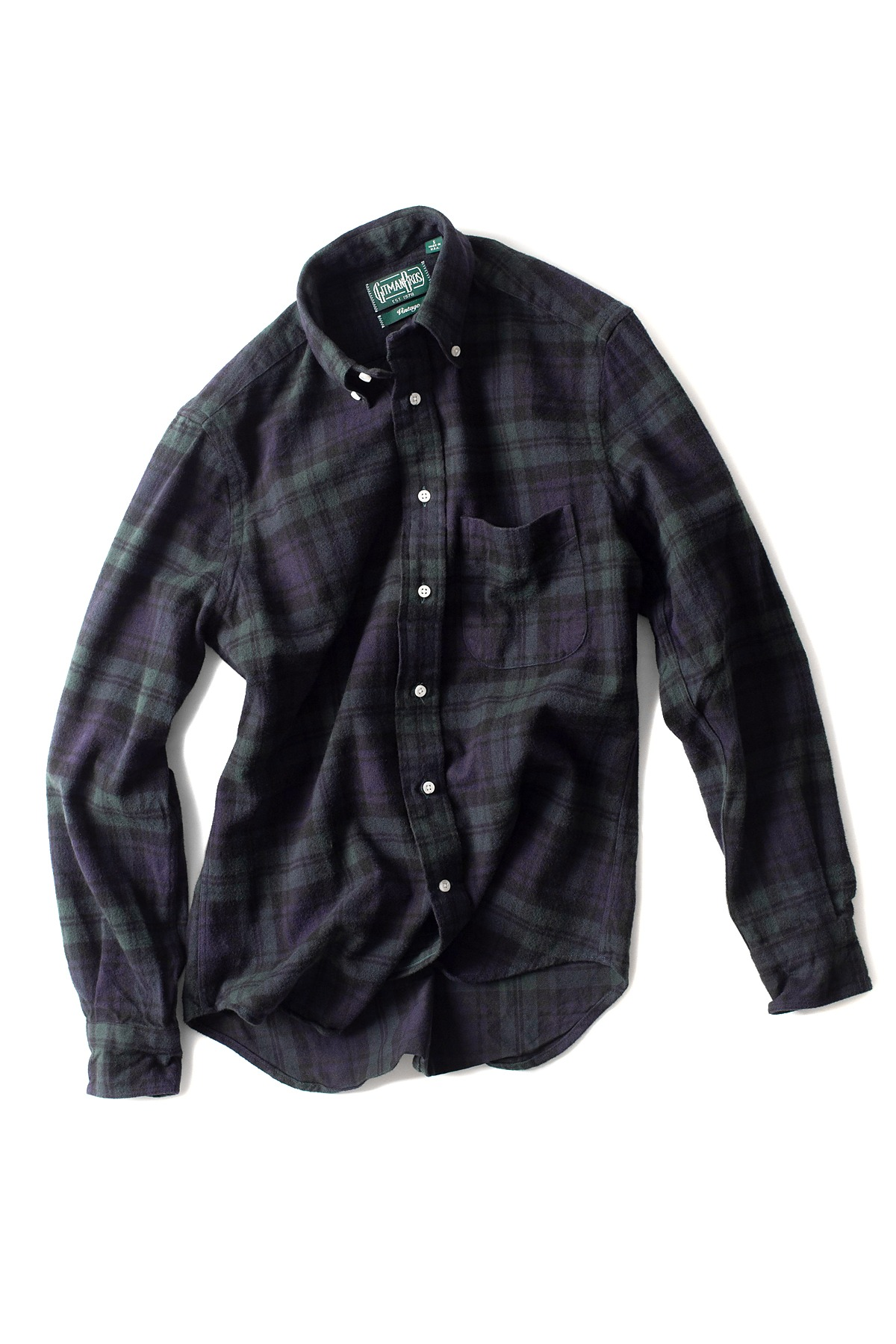 GITMANBROS : Vintage Button Down Shirt (M.Green)
