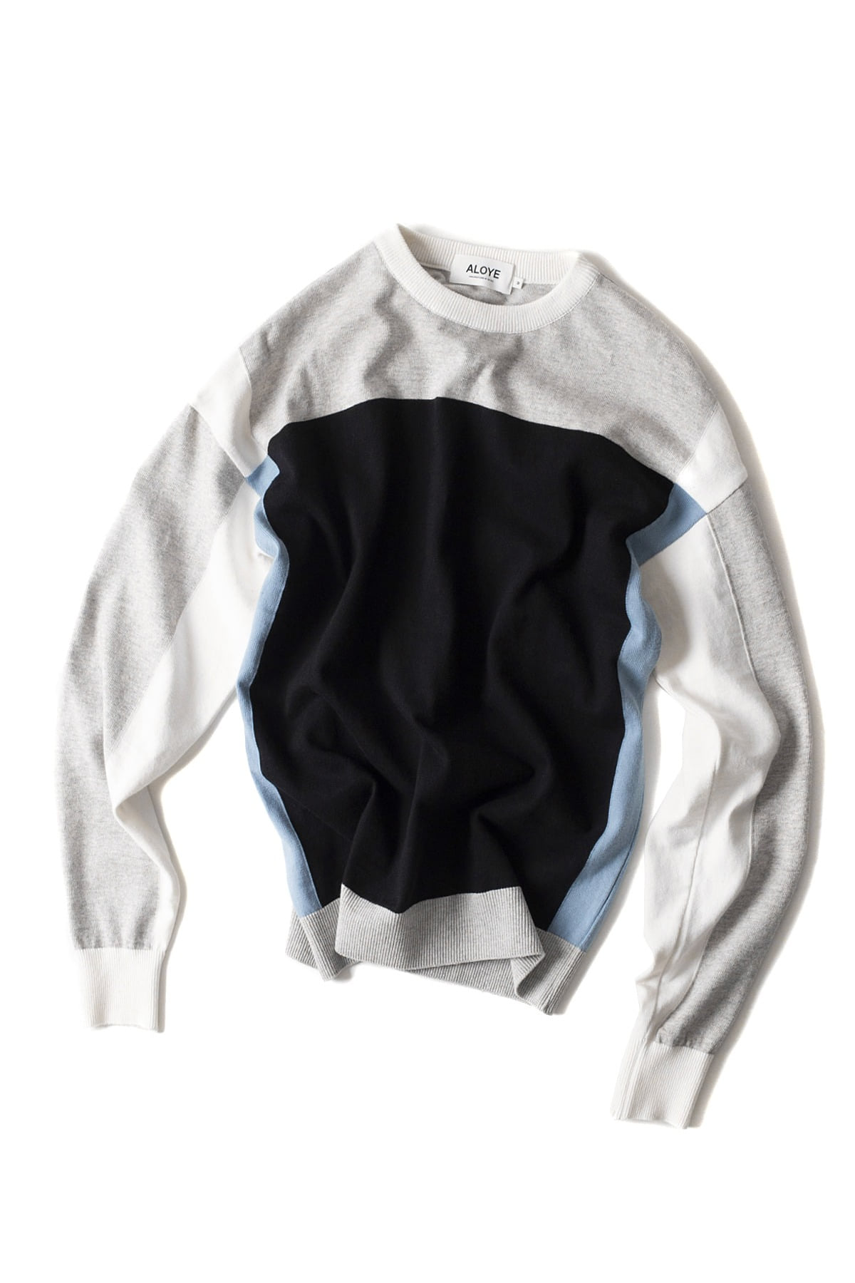 ALOYE : G.F.G.S Long Sleeve Cotton Knitted (Gray / Black)