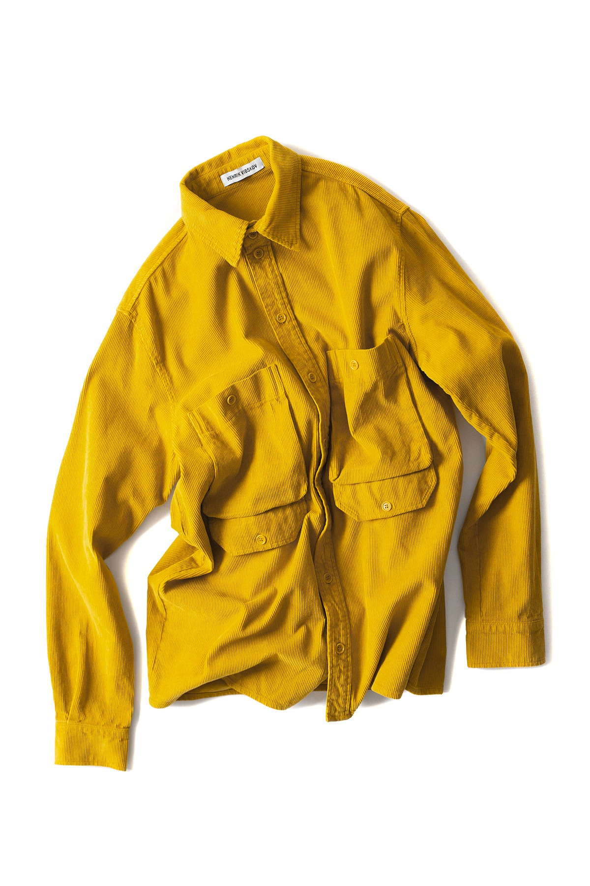 HENRIK VIBSKOV : Upper Shirt Cord (Yellow)