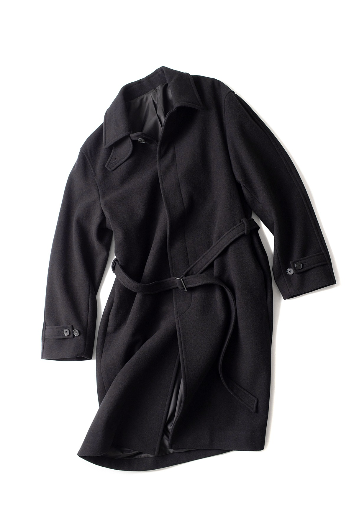 youth : Belted Mac Coat (Black)