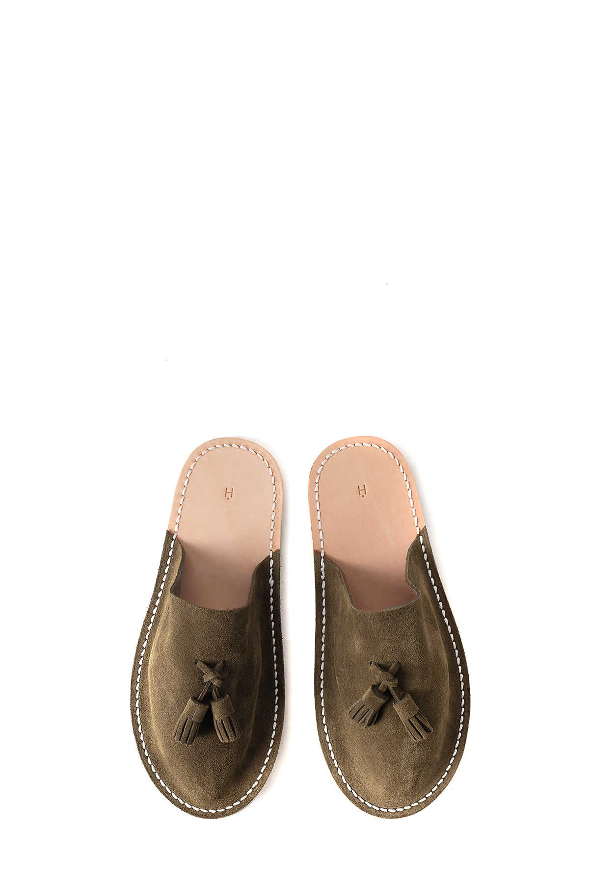 Hender Scheme : Leather Slipper (Camel)