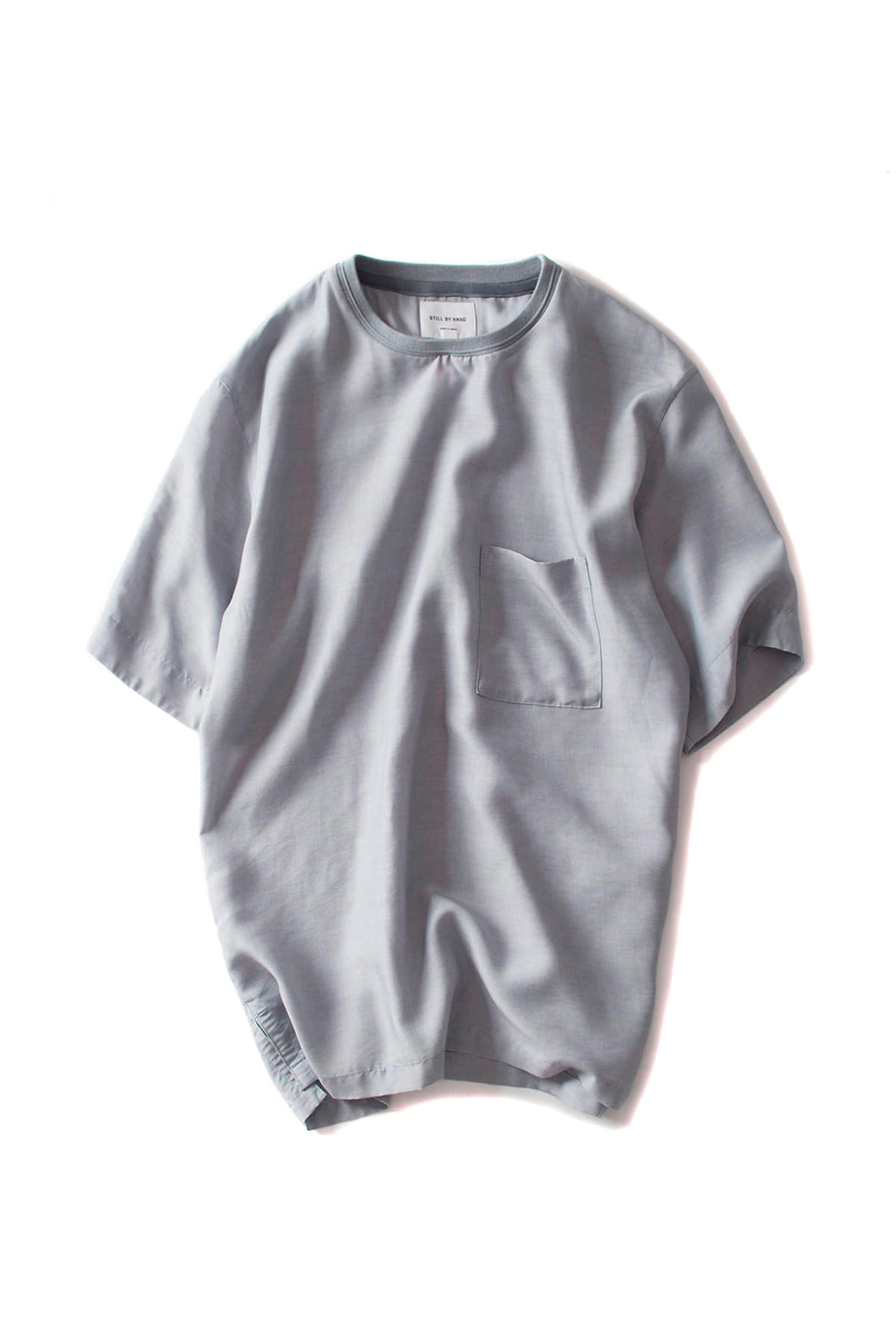 Still by Hand : Over Fit Crew Shirt (Grey)