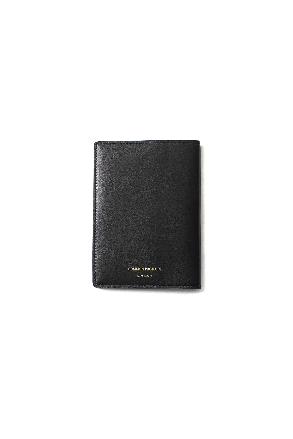 Common Projects : Passport Folio In Softy Leather (Black)