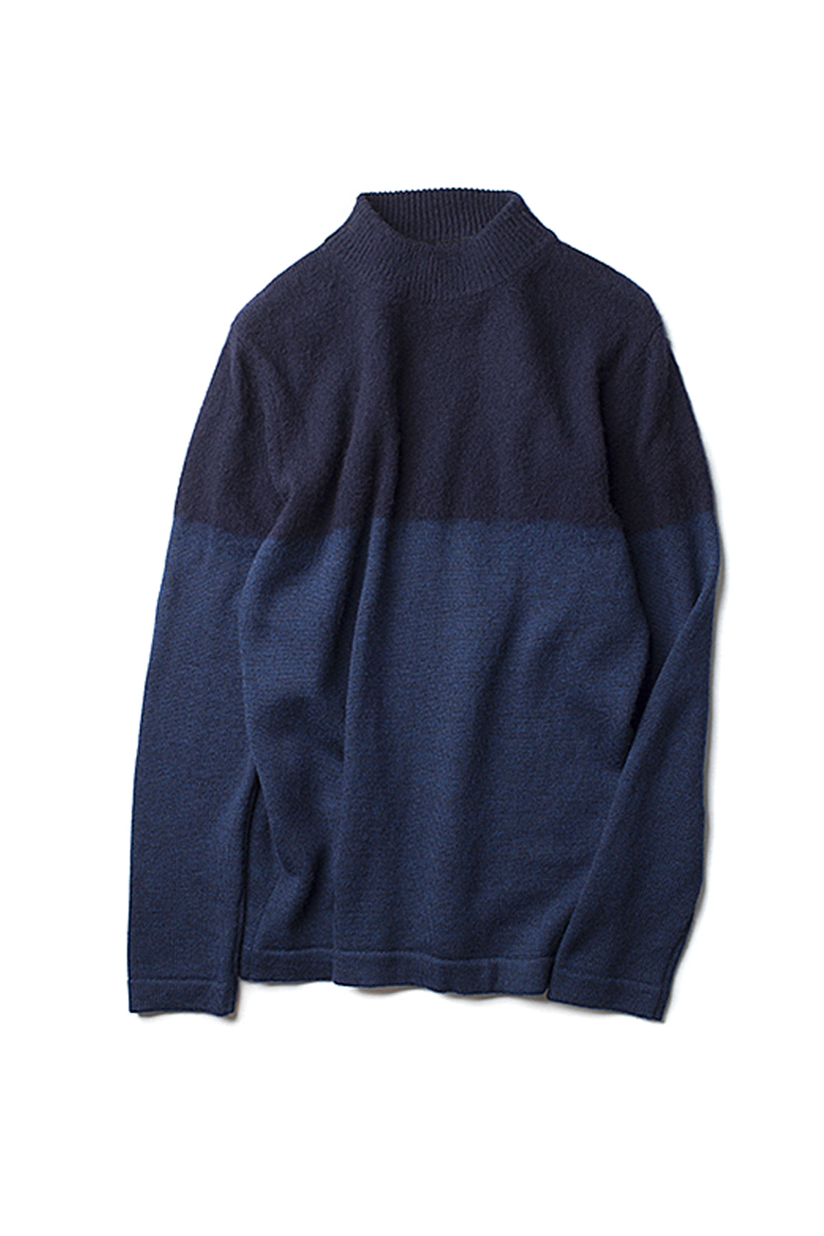 Still By Hand : 2Tone Pullover Knit (Navy)