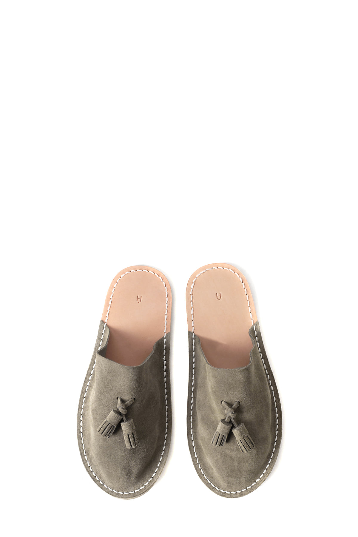 Hender Scheme : Leather Slipper (Beige)
