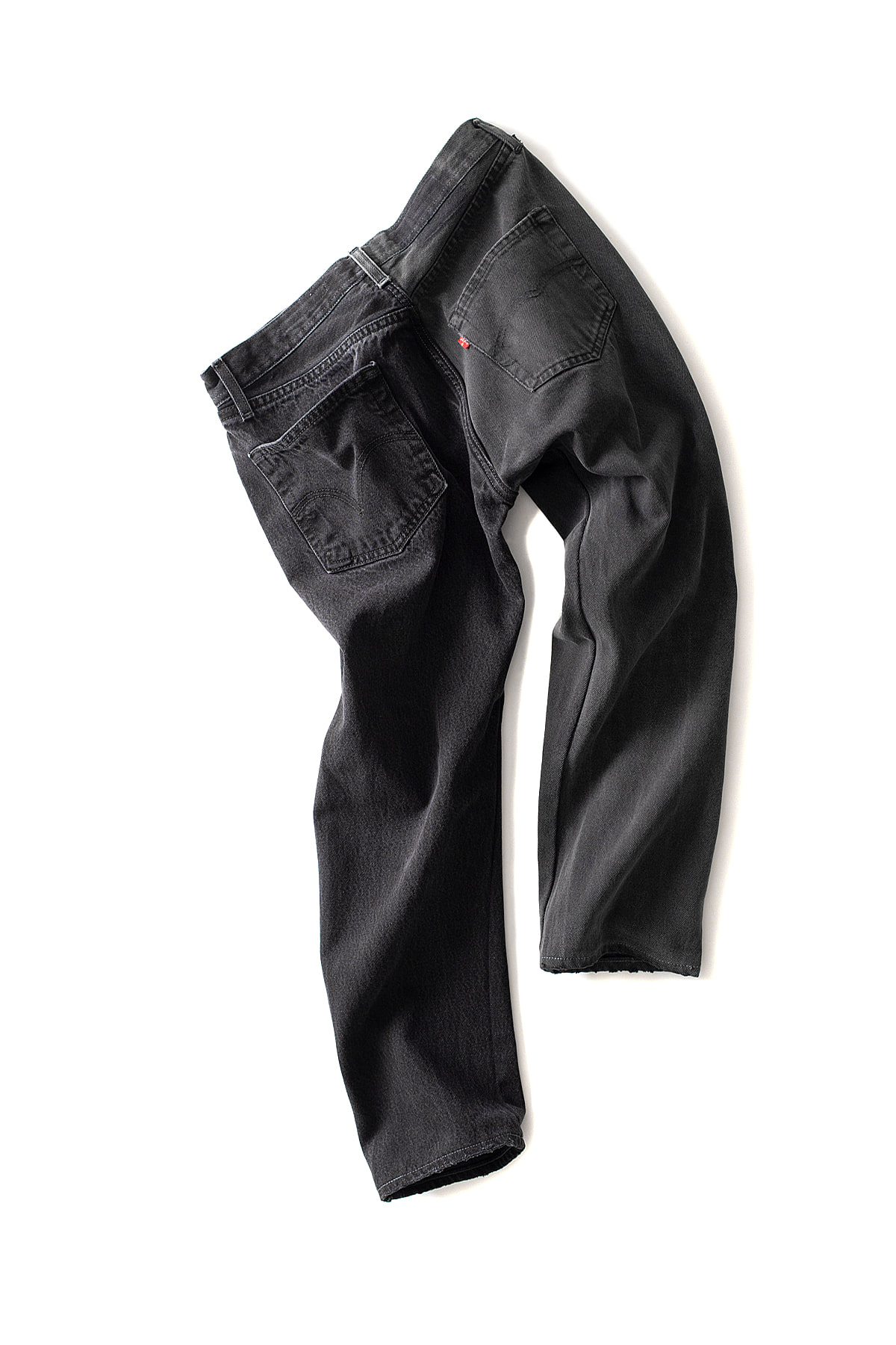 MADE by Sunny Side up : 2Forl Denim 5P Pants 3Size Black (A)