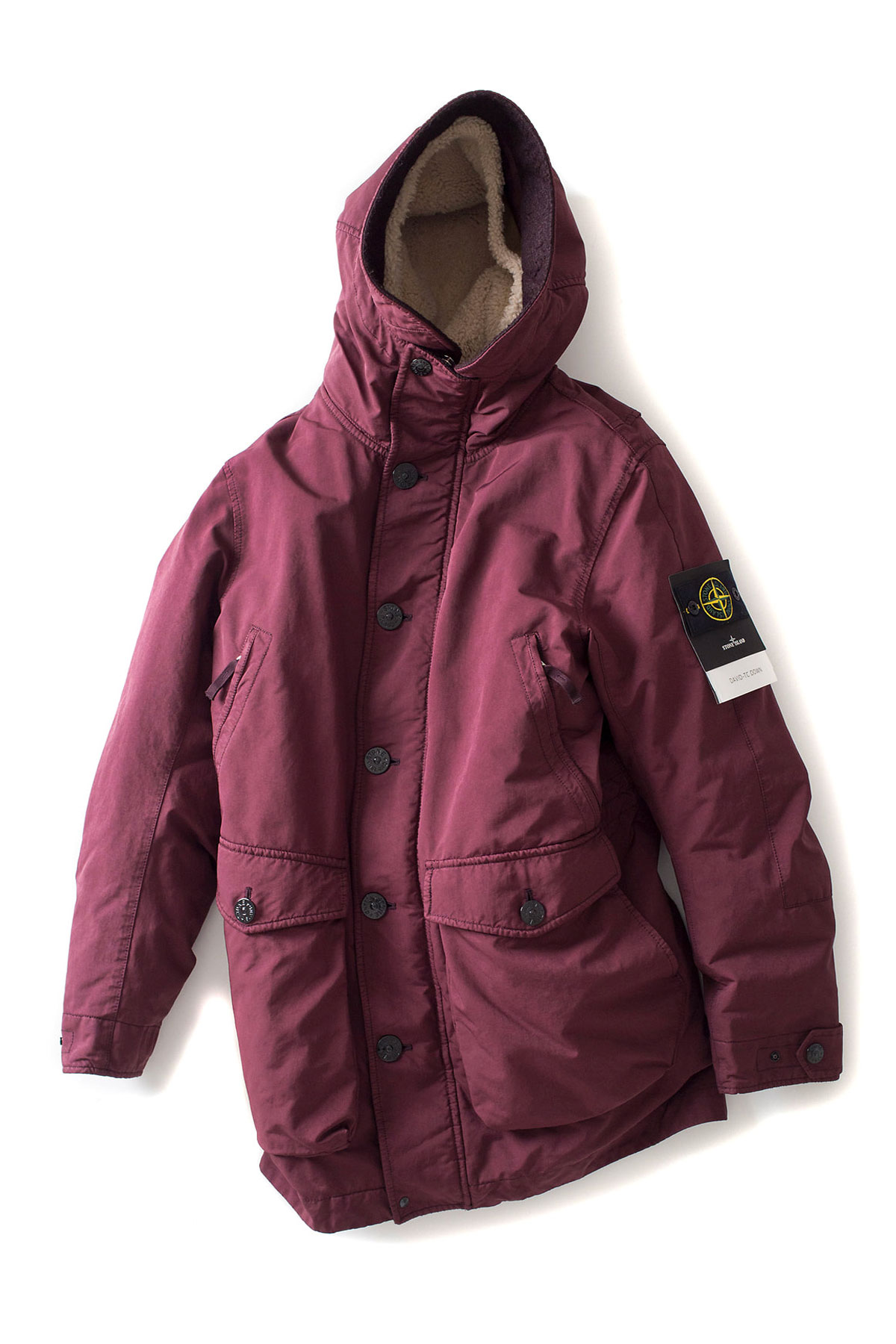 Stone Island : DAVID-TC DOWN (Burgundy)