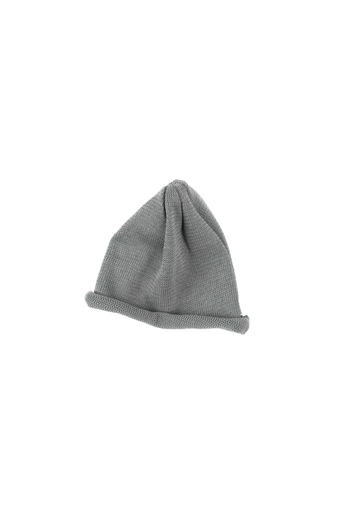 Infielder Design : Straw Roll Knit Cap (Grey)