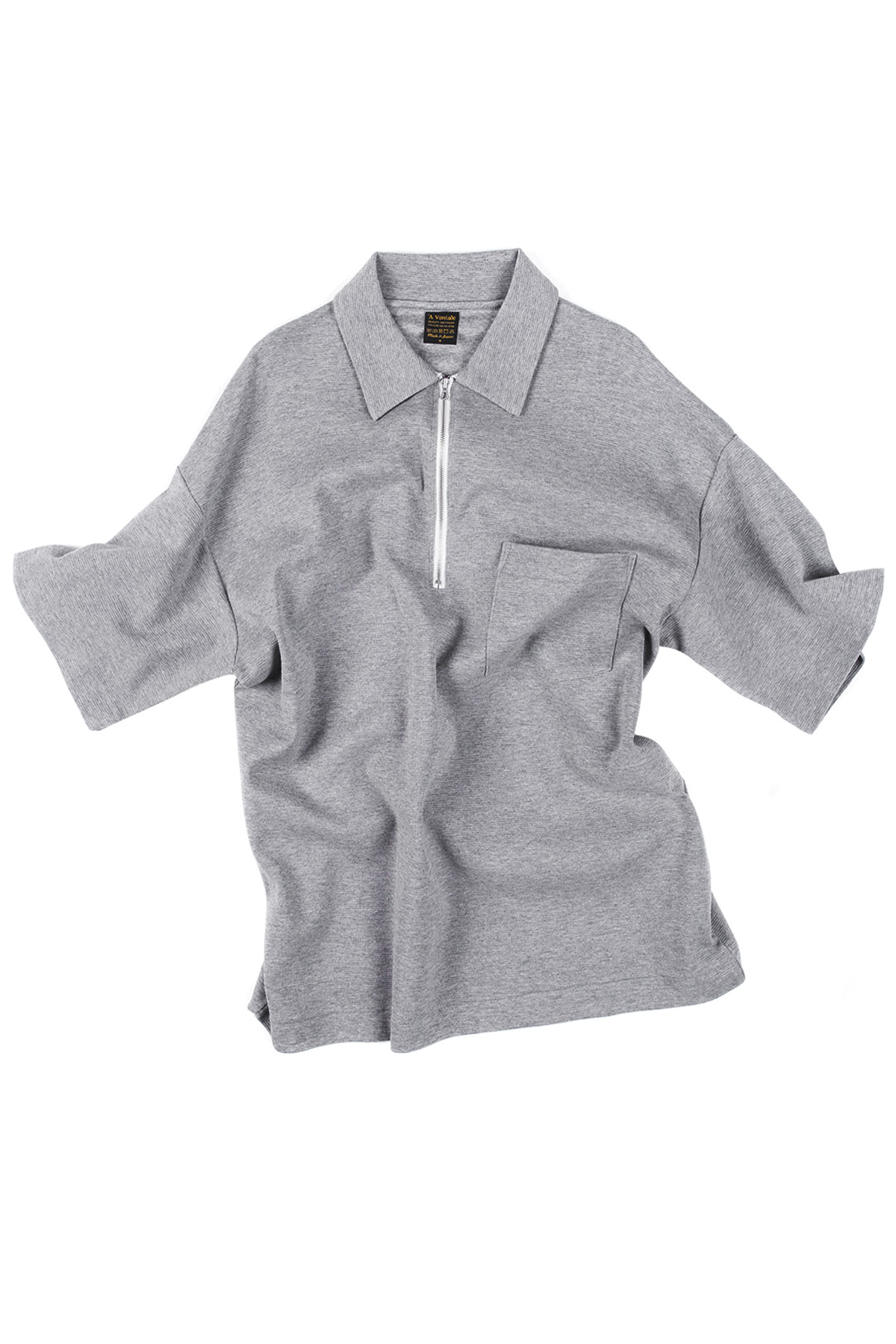 A vontade : Half Zip Polo S/S (Grey)