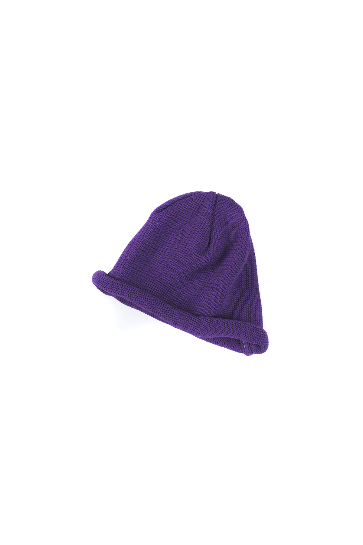 Infielder Design : Straw Roll Knit Cap (Purple)