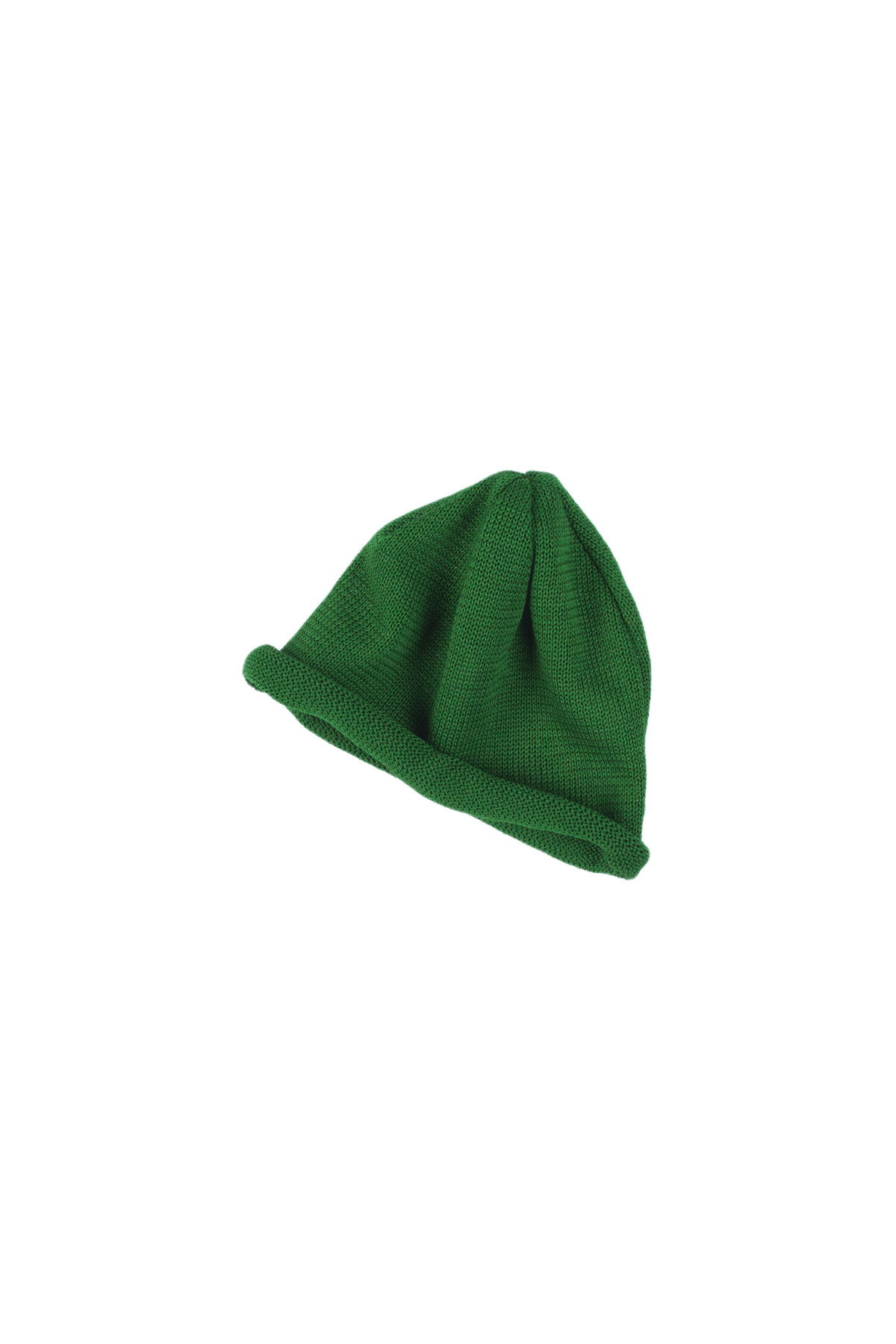 Infielder Design : Straw Roll Knit Cap (Green)
