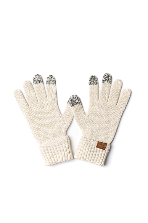 Infielder Design : Cashmere Gloves (White)