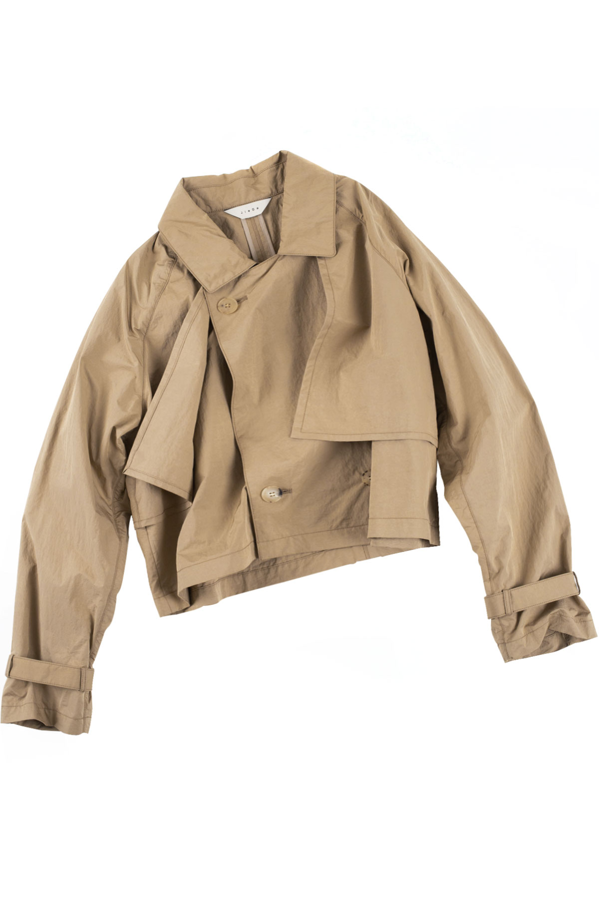JieDa : Short Trench Jacket (Beige)
