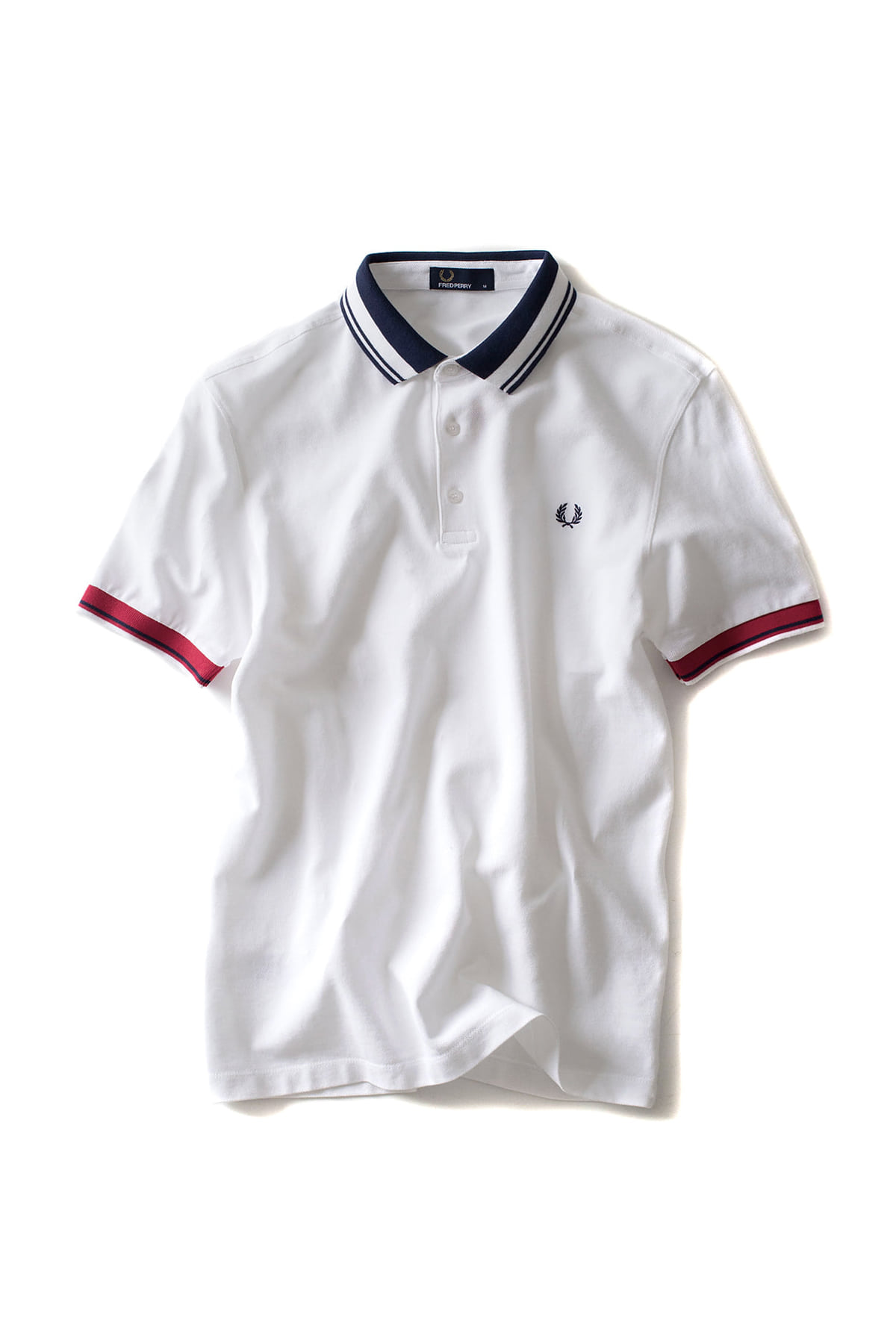 FRED PERRY : Contrast Collar Pique Shirt (White)