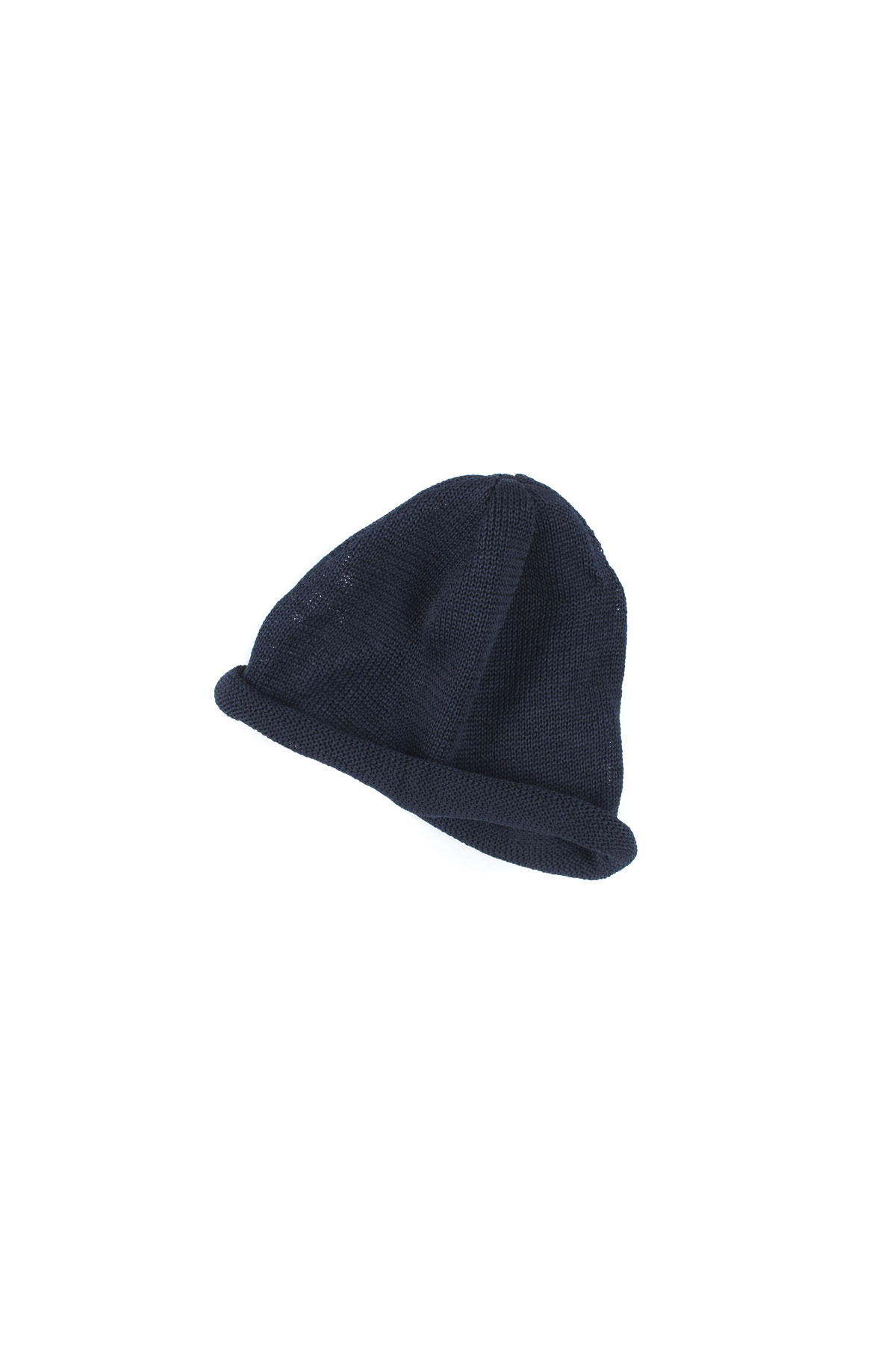 Infielder Design : Straw Roll Knit Cap (Navy)