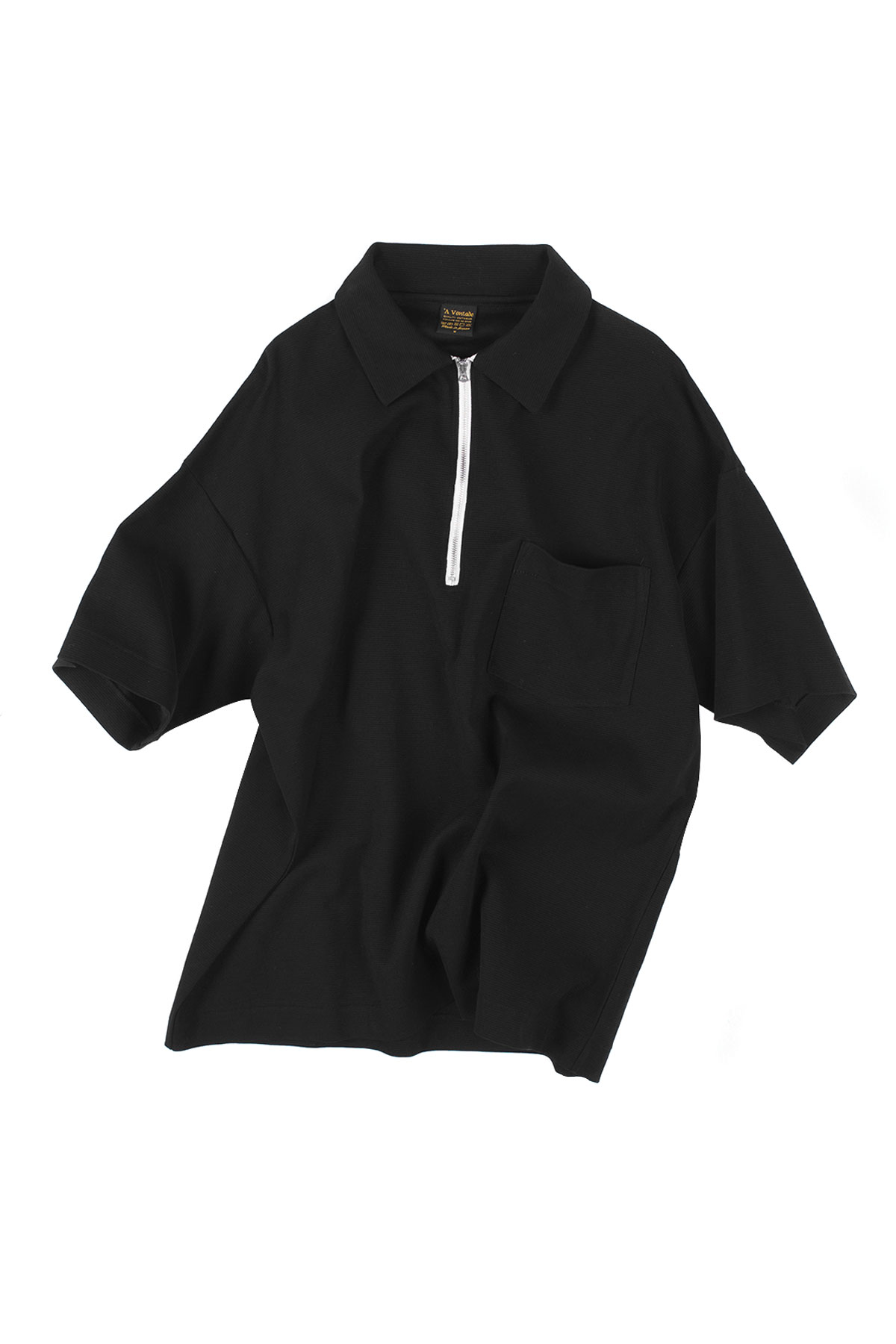 A vontade : Half Zip Polo S/S (Black)