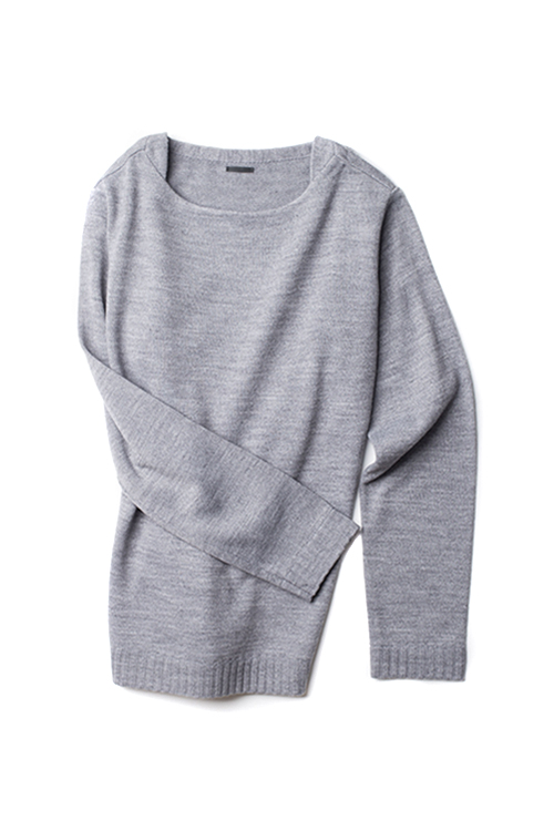maillot : Boat Neck Knit (Grey)