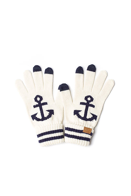 Infielder Design : Anchor Gloves (White)