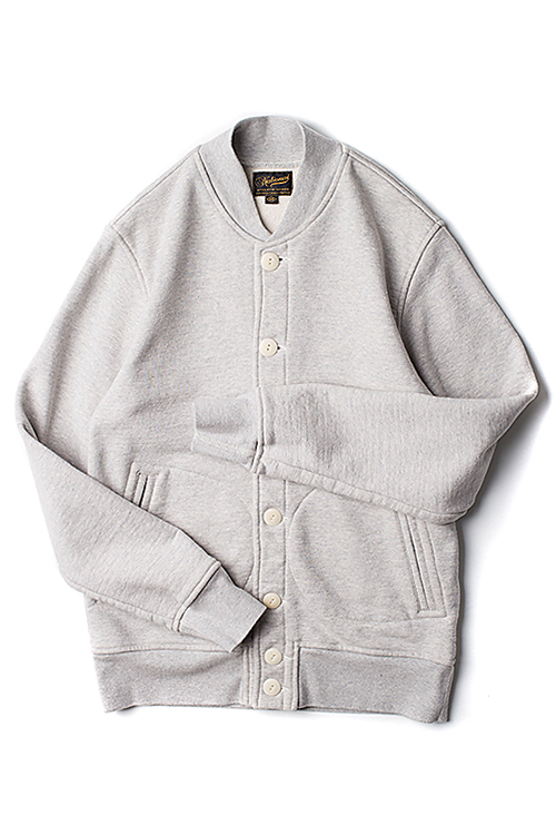 NAG : Button Sweat JKT (Grey)