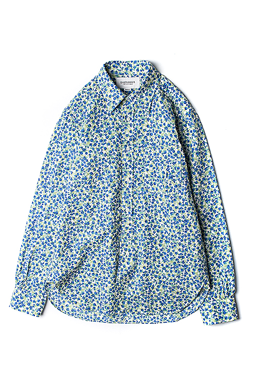 Eastlogue : Regular Hidden BD Shirt (Blue Flower)