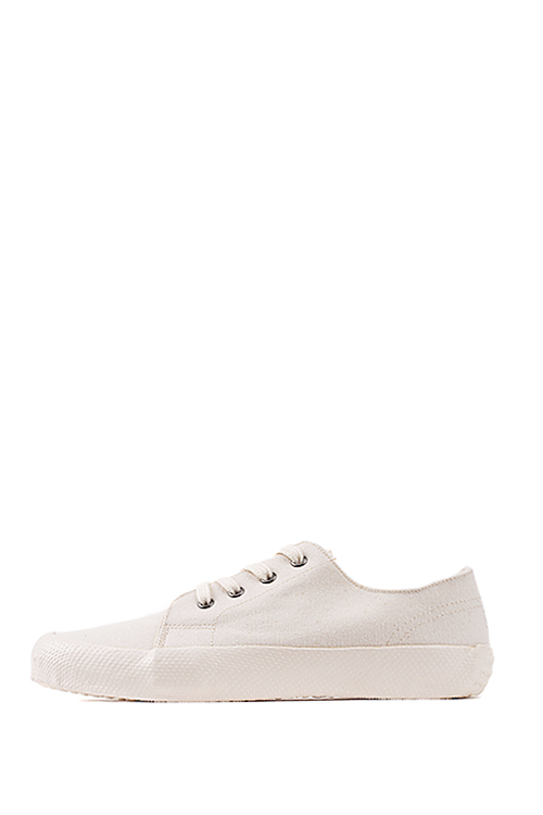 YMC : Lace Up Trainer (Cream)