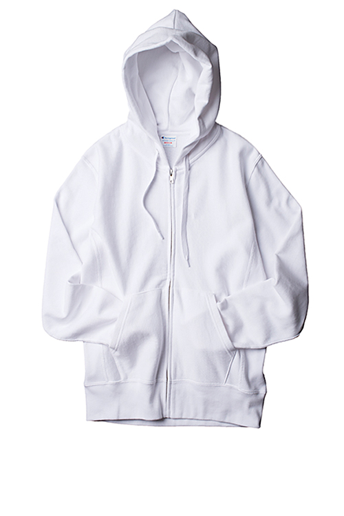 Champion : C3-F101 Zip Up (White)