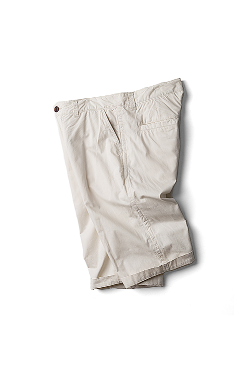 RINEN : Organic Cotton Shorts (Ecru)