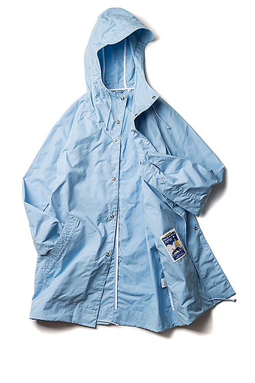 Arpenteur : Mevi Hooded Coat (Light Blue Sail Gabardine)