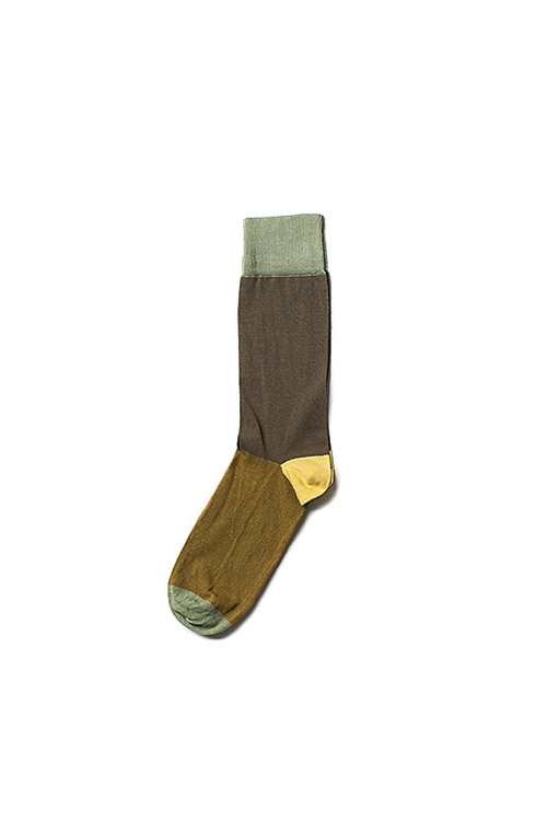 corgi : Lightweight Nylon Socks (Brown / L.Brown)