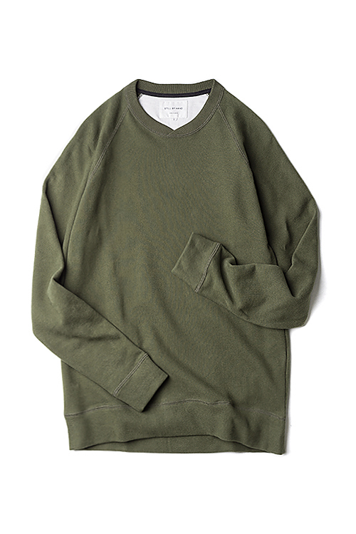 Still By Hand : Sweat Shirt (Olive)