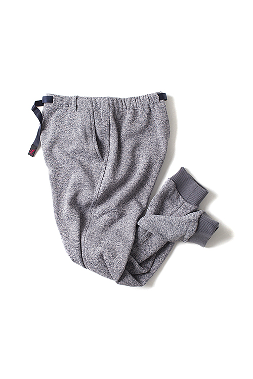Gramicci : Fleece Narrow Rib Pants (Grey)