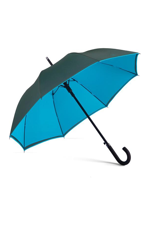 Beaumont & James : Walker Umbrella (Charcoal / Electric Blue)