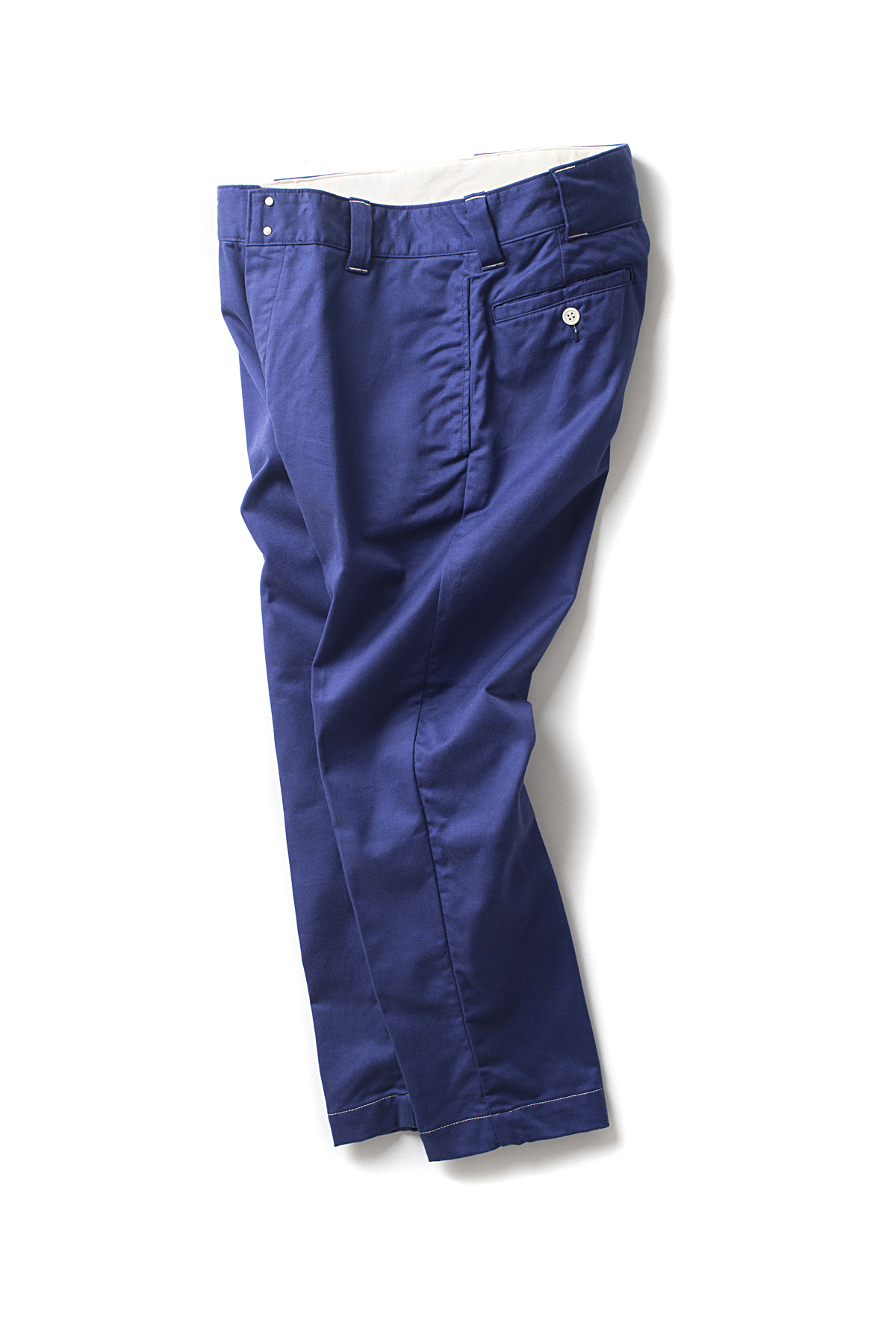 ordinary fits #WHITE : Chino Trousers (Blue)
