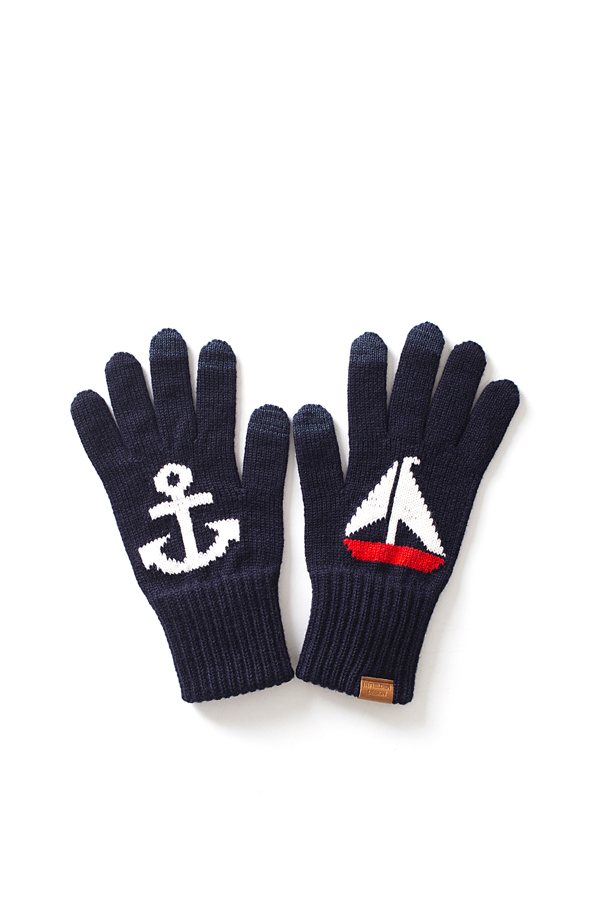Infielder Design : Anchor & Yacht Gloves (Navy)
