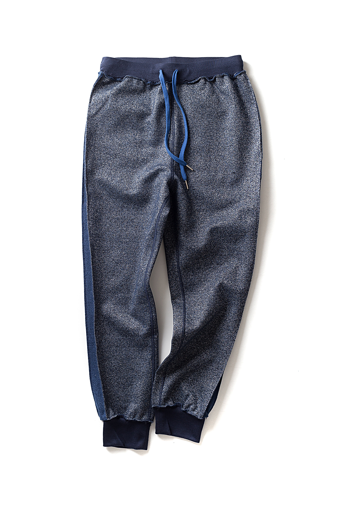Ooparts : Fleece Back Reversal Track Pants (Blue Melange)