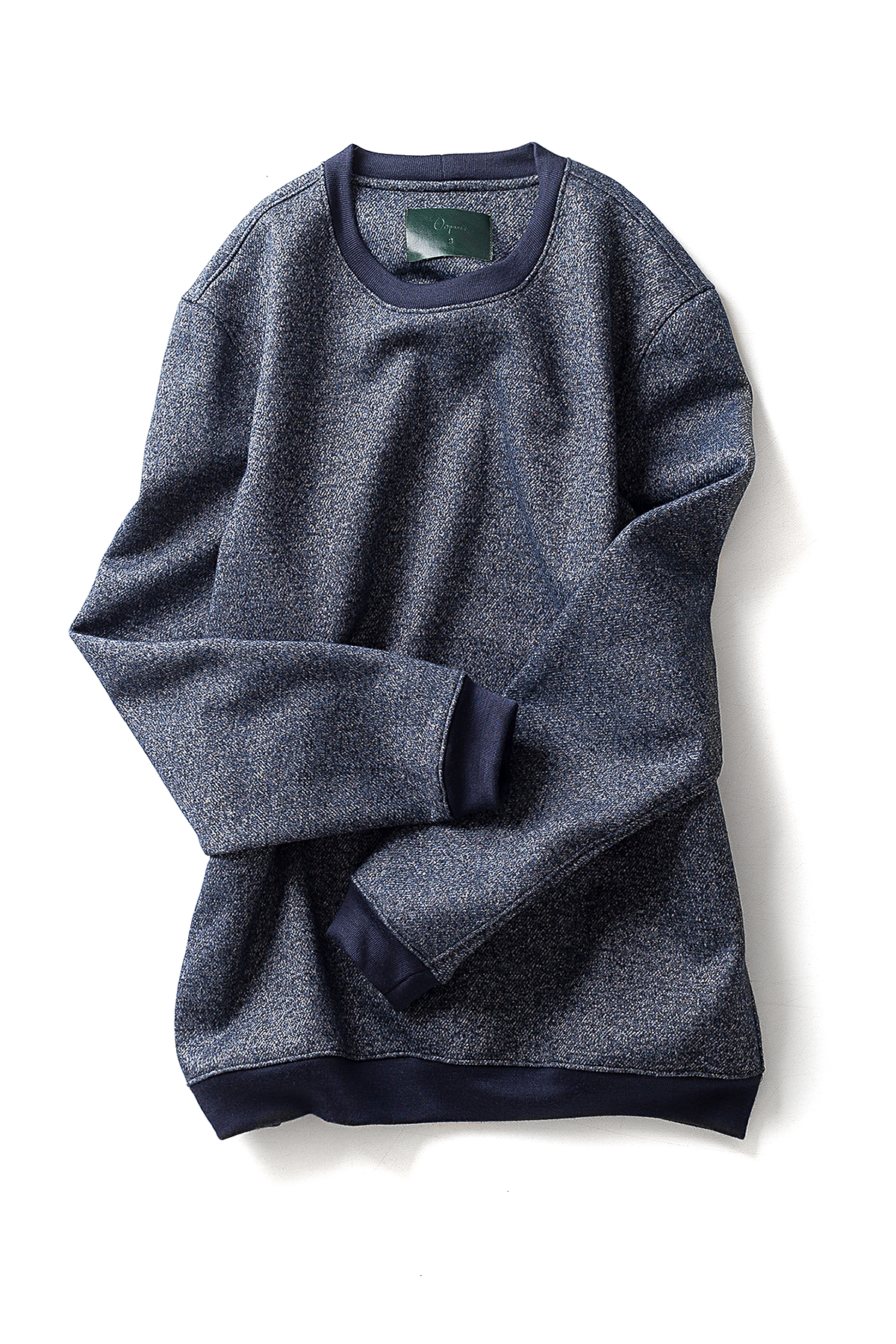 Ooparts : Crewneck Wool Sweater (Blue)