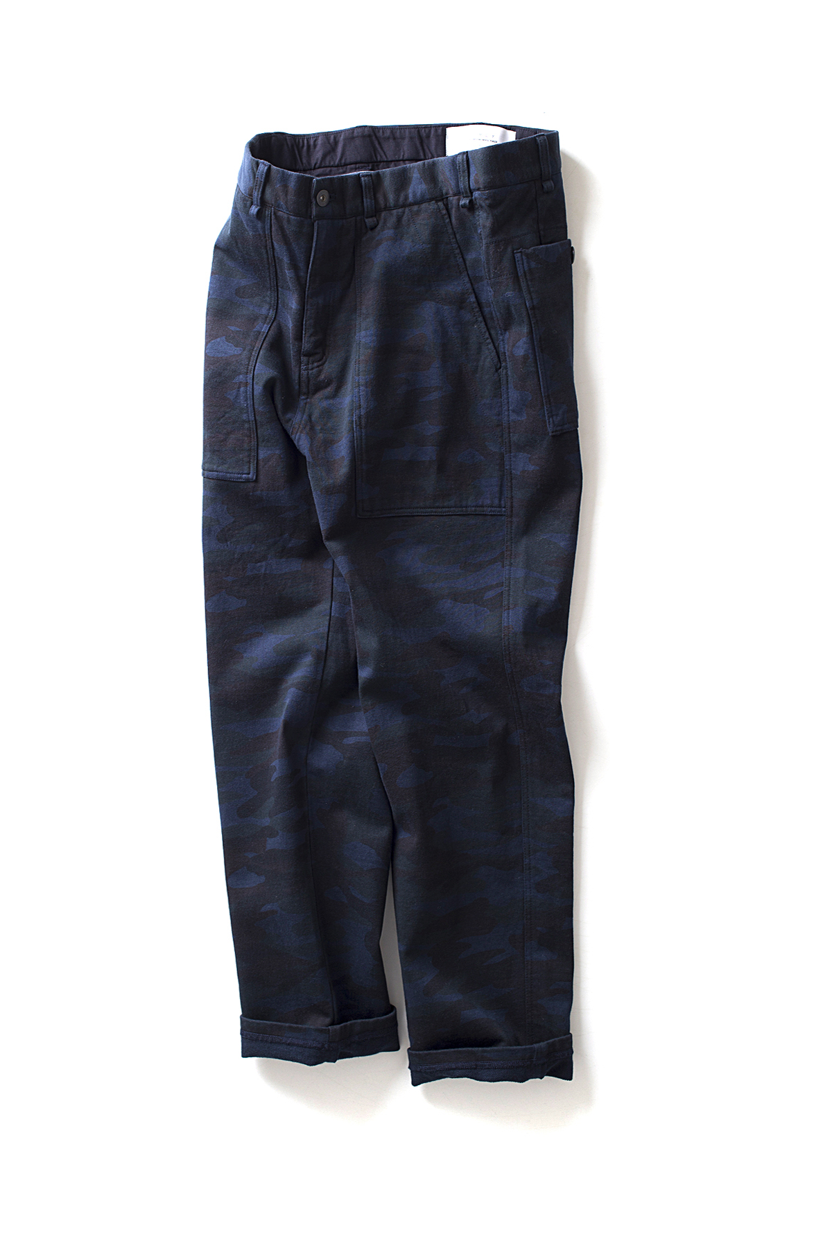 Curly : Camo Fatigue Trousers (Navy Camo)