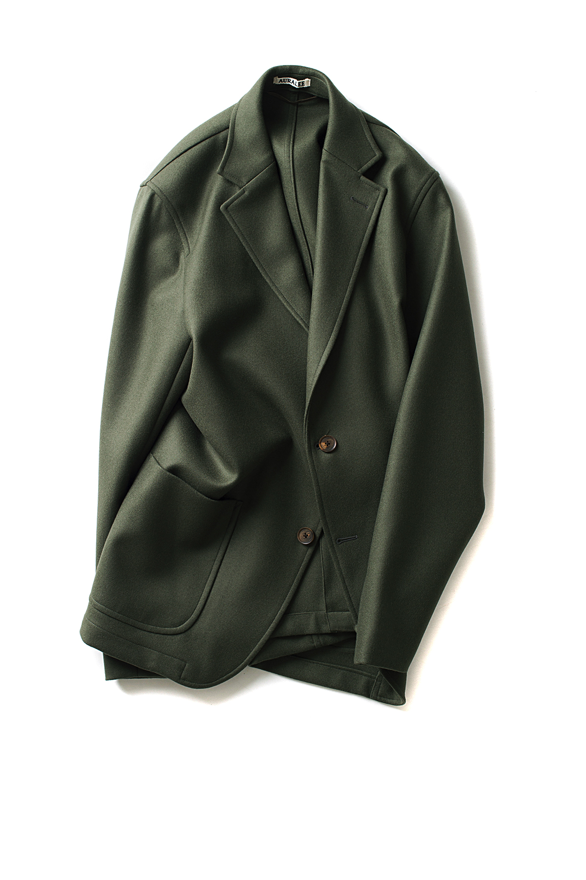 Auralee : Light Melton Jacket (Olive)