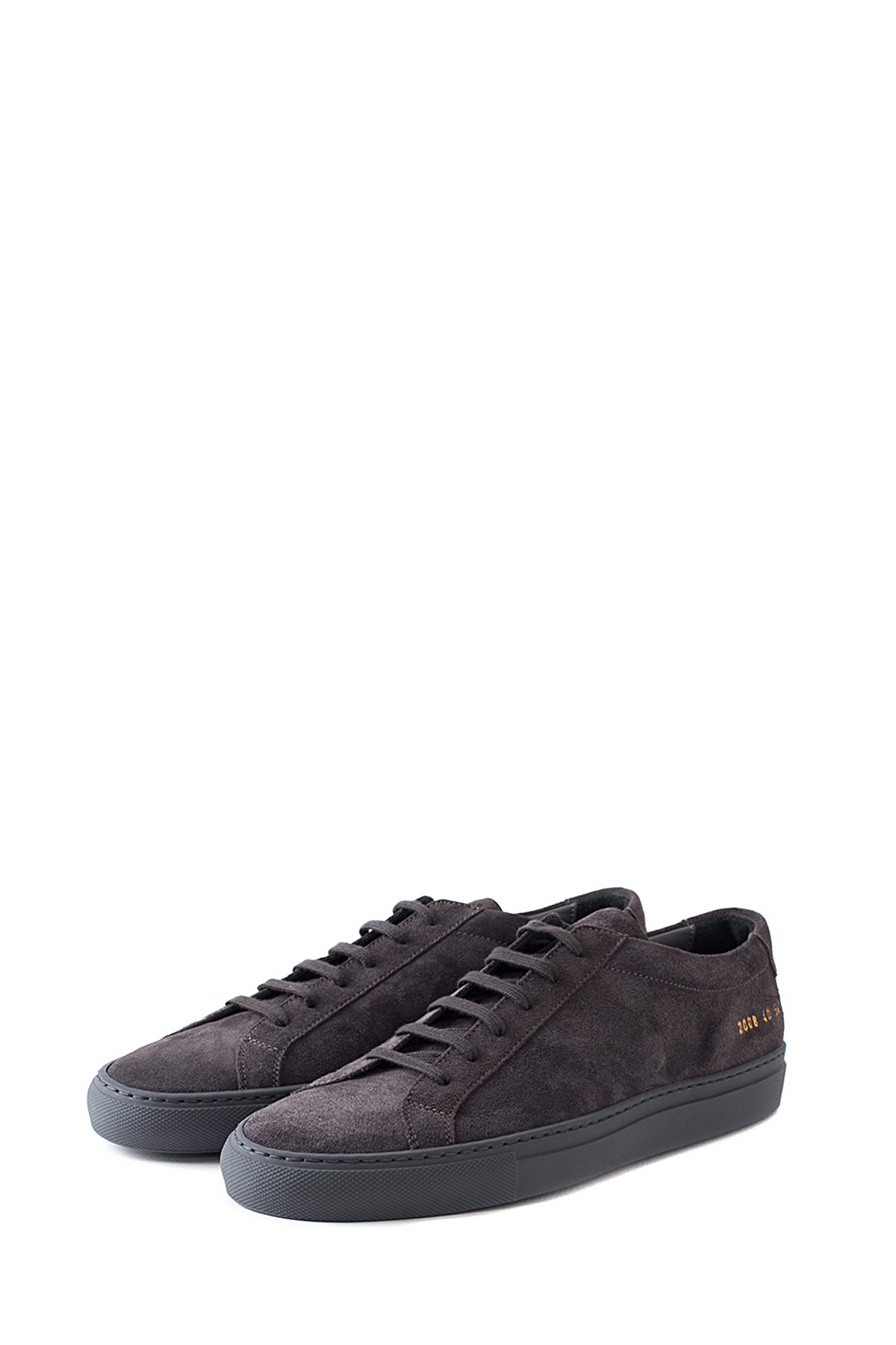 Common Projects : Original Achilles Low in Suede (Dark Grey)
