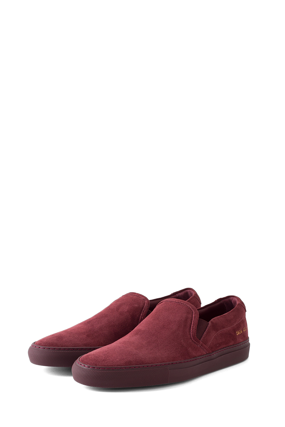 Common Projects : Slip On in Suede (Bordeaux)