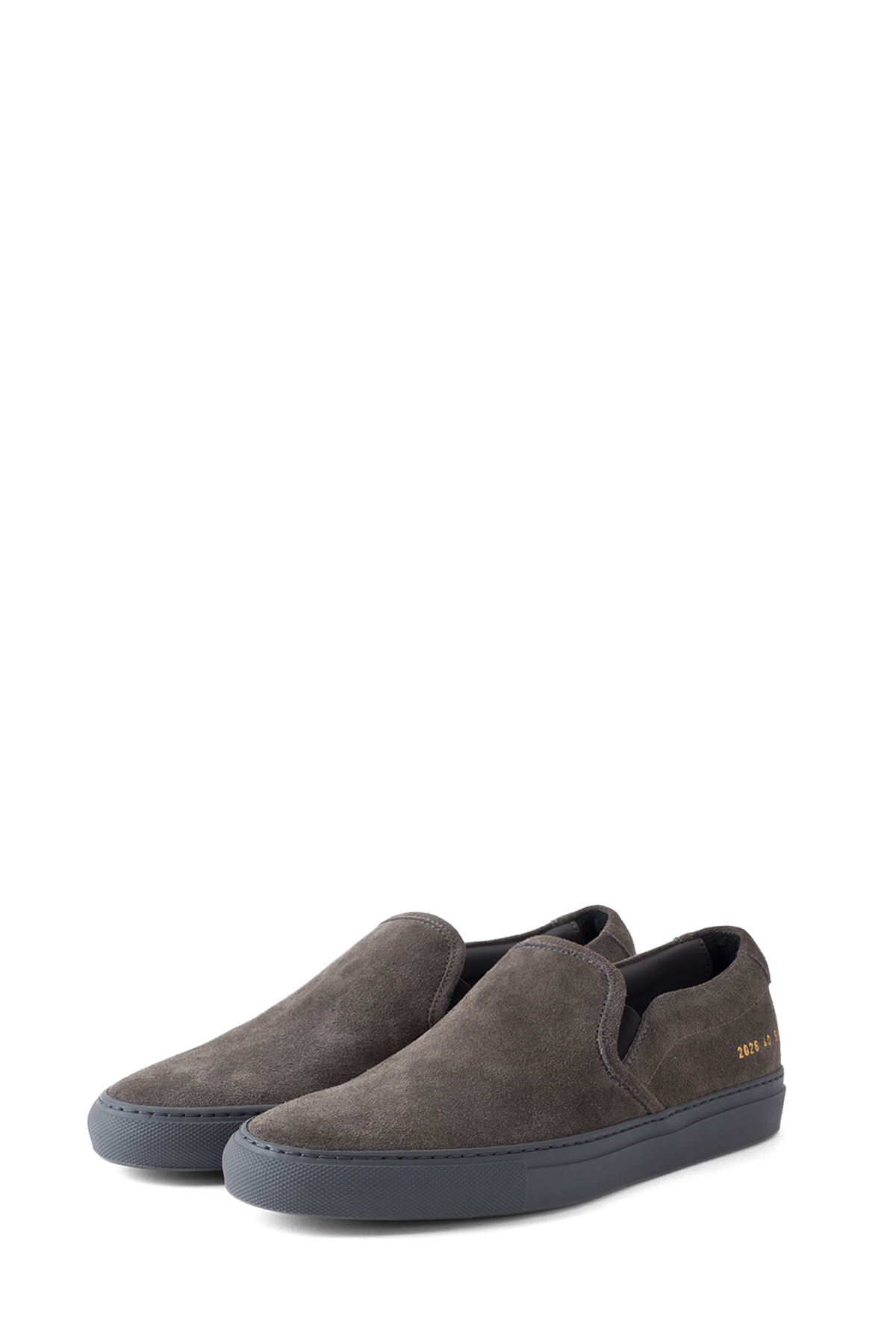 Common Projects : Slip On in Suede (Dark Grey)