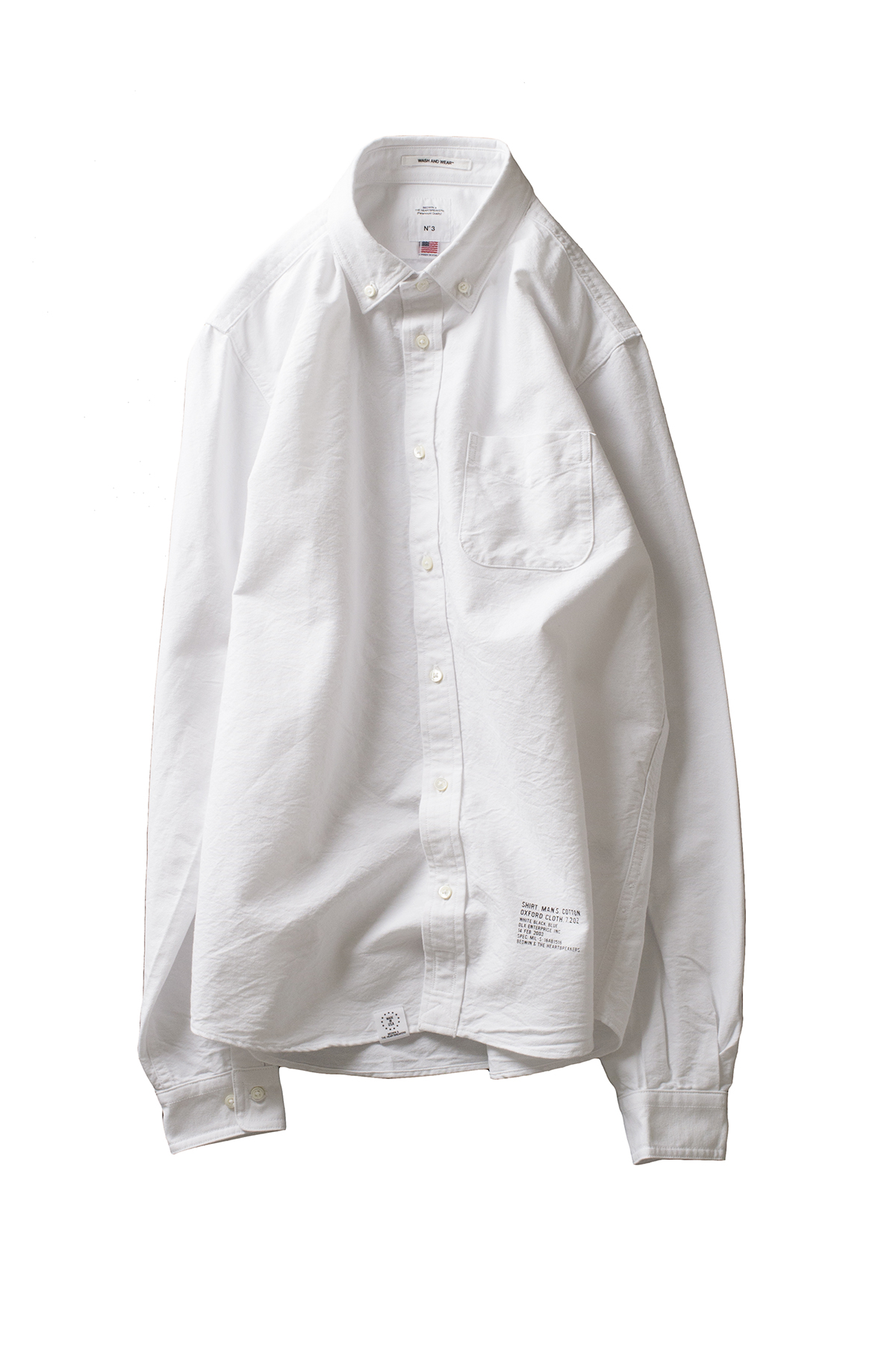 "Bedwin & The Heartbreakers : L/S B.D OX Shirt FD ""GALLO"" (White)"