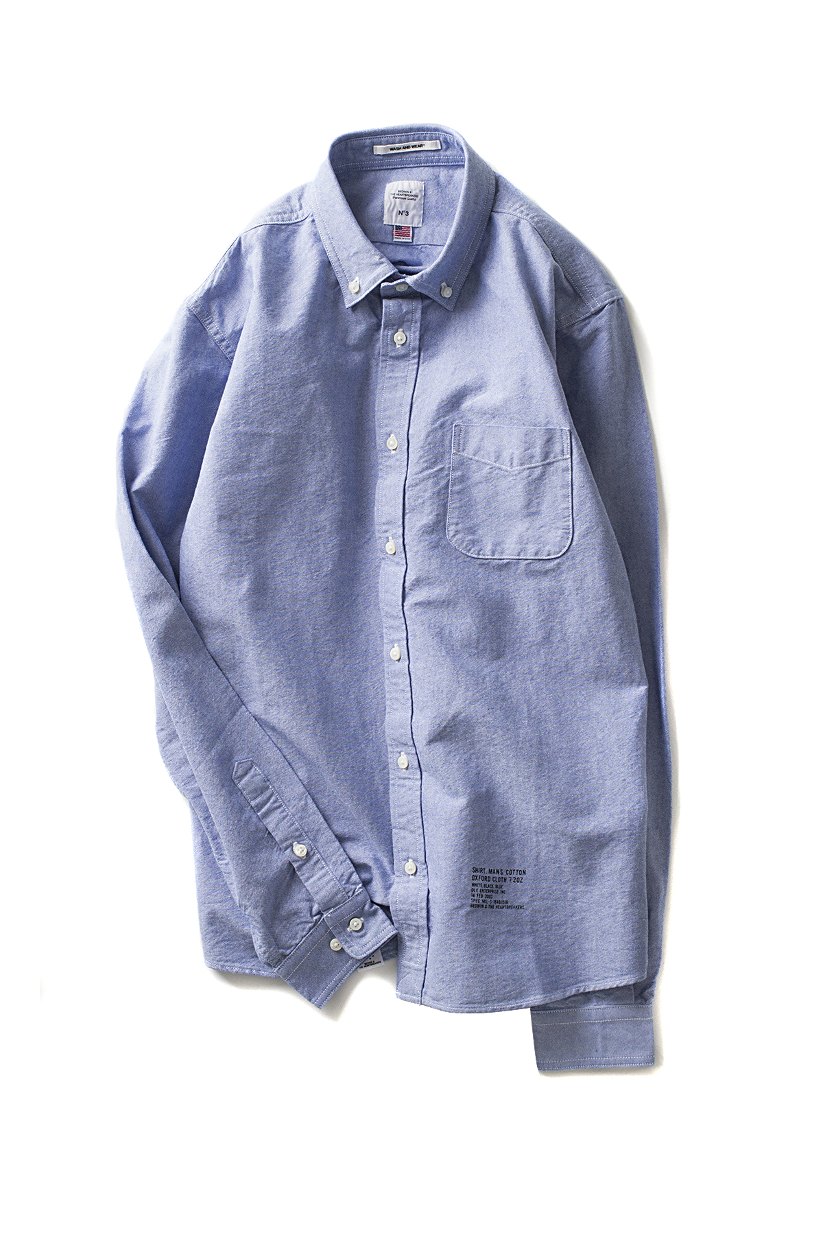 "Bedwin & The Heartbreakers : L/S B.D OX Shirt FD ""GALLO"" (Blue)"