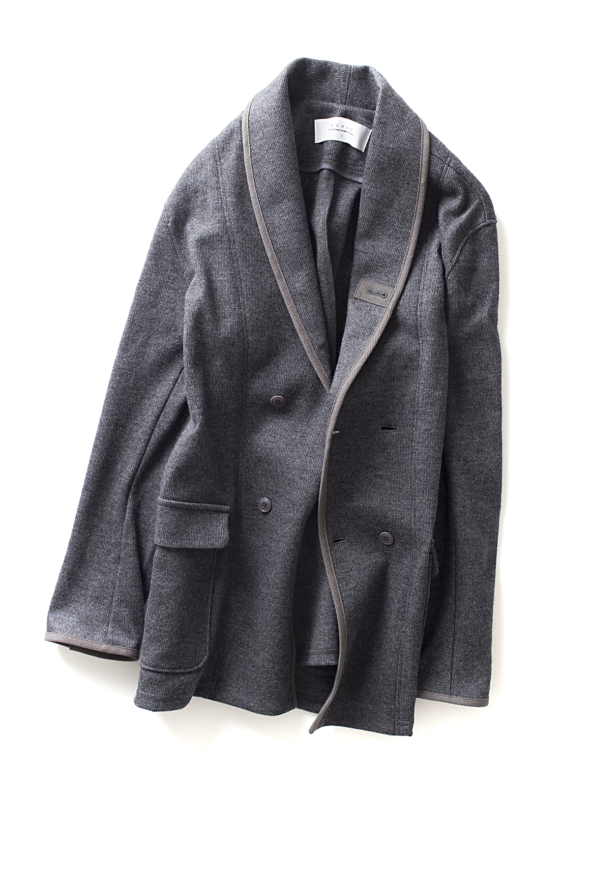 Curly : Split Shawl Jacket (Grey)