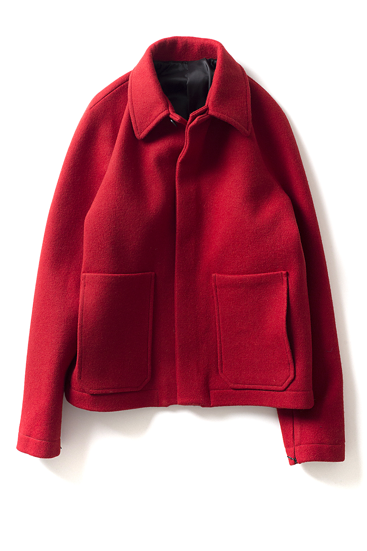 LES INCOMPETENTS : Puffer Back Flight Jacket (Red)