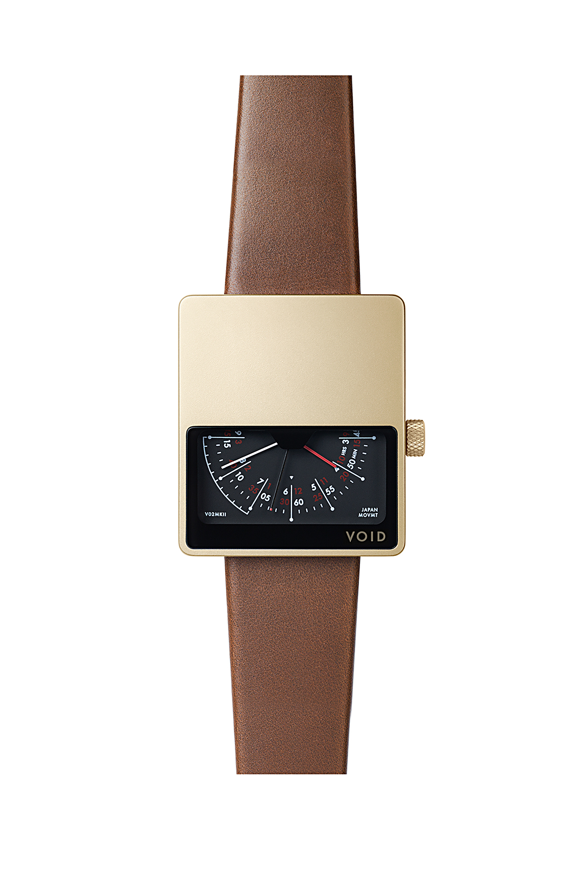 VOID WATCHES : V02 MK2 (Gold / L.Brown)